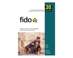 Image du produit Incomm - Cartes prépayées pour cellulaires Fido 20 $, 1 unité