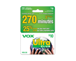 Carte d-appel prépayée VOX Ultra de 10 $
