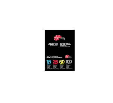 Cartes prépayées pour cellulaires Virgin Mobile 100 $, 1 unité