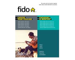 Image du produit Incomm - Cartes prépayées pour cellulaires Fido 50 $, 1 unité