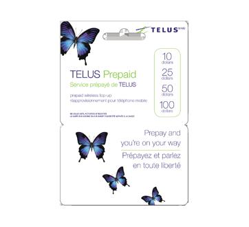 Cartes prépayées pour cellulaires TELUS 50 $, 1 unité