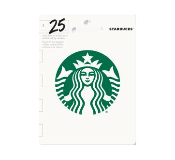 Carte-cadeau Starbucks de 25 $, 1 unité