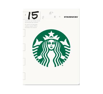 Carte-cadeau Starbucks de 15$, 1 unité