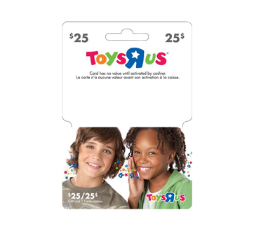 """Carte-cadeau Toys""""R""""Us de 25 $, 1 unité"""