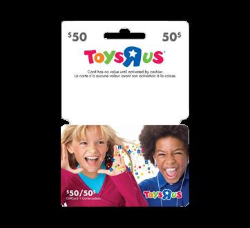 """Carte-cadeau Toys""""R""""Us de 50 D125$, 1 unité"""