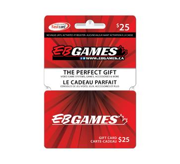 Carte-cadeau EB Games de 25 $, 1 unité
