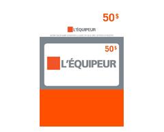 Image du produit Incomm - Carte-cadeau L'Équipeur de 50 $, 1 unité