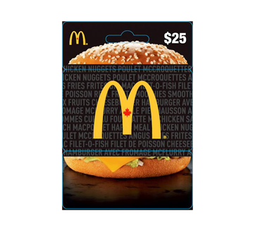 Carte-cadeau McDonald's de 25 $, 1 unité