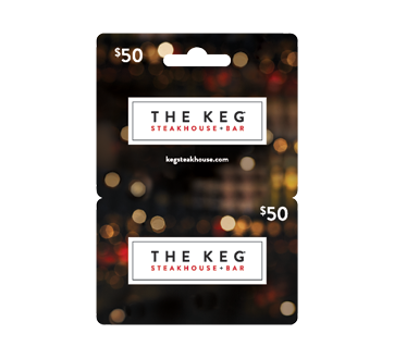 Carte-cadeau The Keg Steakhouse de 50$, 1 unité