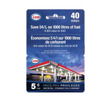 Carte-cadeau Esso de 40 $, 1 unité