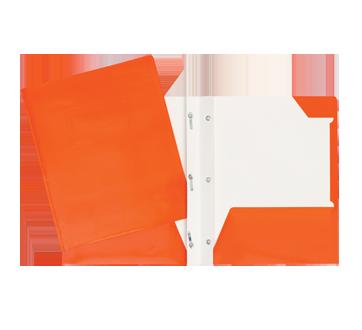 Portfolio carton laminé, 1 unité, orange