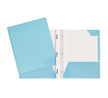 Portfolio carton laminé, 1 unité, bleu