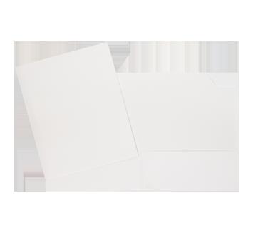 Portfolio carton laminé, 1 unité, blanc