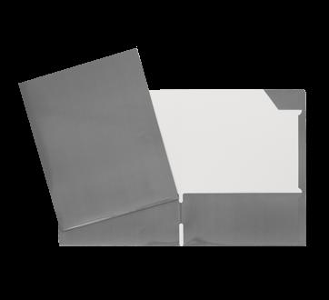 Portfolio carton laminé, 1 unité, gris