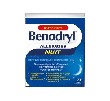 benadryl extra puissant formule nuit 24 unit s benadryl antihistaminique comprim et. Black Bedroom Furniture Sets. Home Design Ideas