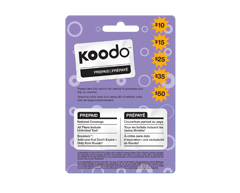 Image du produit Incomm - Cartes prépayées pour cellulaires Koodo 50 $
