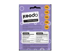 Image du produit Incomm - Cartes prépayées pour cellulaires Koodo 25 $, 1 unité