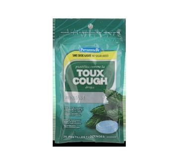 Image du produit Personnelle - Pastilles contre la toux sans sucre ajouté, 25 unités, menthol