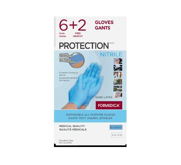 Image du produit Formedica - Gants tout-usages jetables Protection - Latex, 6+2 unités, petit/moyen, crème
