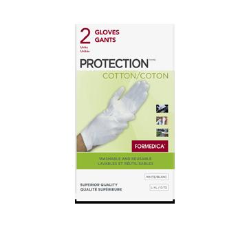 Image du produit Formedica - Gants de protection de coton, 2 unités, grand/très grand, blanc