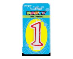 Image du produit Unique - Party bougie numérale, 1 unité, 1