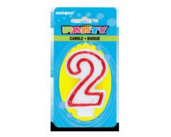 Image du produit Unique - Party bougie numérale, 1 unité, 2