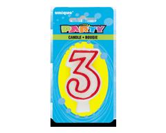Image du produit Unique - Party bougie numérale, 1 unité, 3