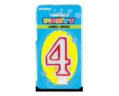 Image du produit Unique - Party bougie numérale, 1 unité, 4