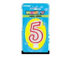 Image du produit Unique - Party bougie numérale, 1 unité, 5