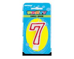 Image du produit Unique - Party bougie numérale, 1 unité, 7