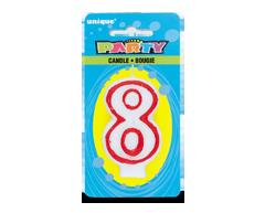 Image du produit Unique - Party bougie numérale, 1 unité, 8