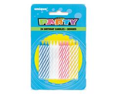 Image du produit Unique - Bougies en spiral, 24 unités