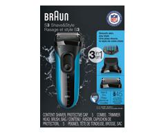 Image du produit Braun - Shave & Style Series3 rasoir, 1 unité