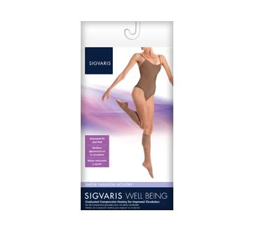 Image du produit Sigvaris - Sheer Fashion pour femmes 120, Jarret, taille C, gris