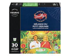 Image du produit Timothy's - K-Cup capsules de café mélange du petit déjeuner, 30 unités