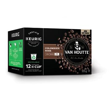 Image 2 du produit Van Houtte - K-Cup capsules de café colombien, 12 unités, noir