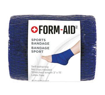 Bandage sport, 1 unité, longueur étirée: 10 cm x 4.6 m, bleu