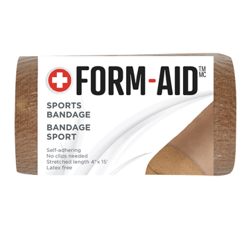 Bandage élastique auto-adhérent, 1 unité, longueur étirée : 10 cm x 4.6 m, beige