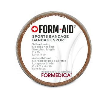 Bandage élastique auto-adhérent, 1 unité, longueur étirée : 2,5 cm x 4.6 m, beige