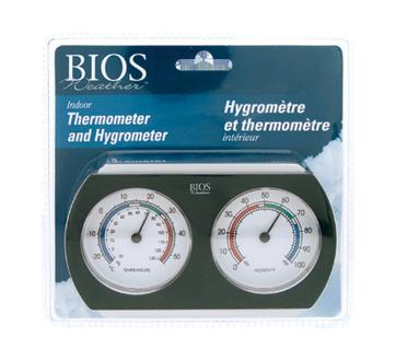 Thermomètre et hygromètre d'intérieur, 1 unité