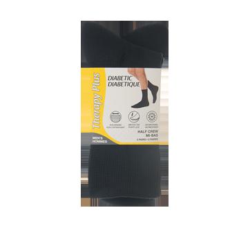Image du produit Therapy Plus - Chaussettes pour diabétique court homme, 2 paires, 10-13 noir
