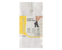 Image du produit Therapy Plus - Chaussettes pour diabétique court femme, 2 paires, 9-11 blanc