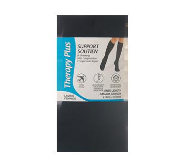 Image du produit Therapy Plus - Bas aux genoux argyle femme, 2 paires, 9-11 noir