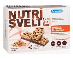 Image du produit Personnelle - Nutri Svelte substituts de repas, 6 x 65 g, granola et pépites de chocolat