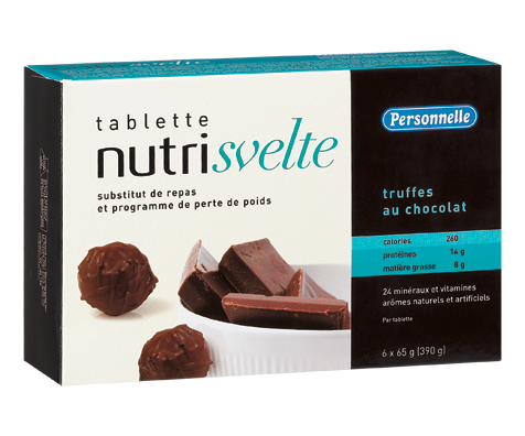nutrisvelte tablette substitut de repas 6 x 390 g truffes au chocolat personnelle sant. Black Bedroom Furniture Sets. Home Design Ideas