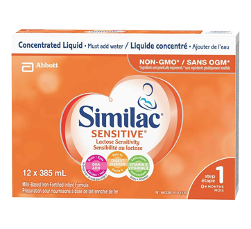 Similac Sensitive, en liquide concentré, 12 x 385 ml