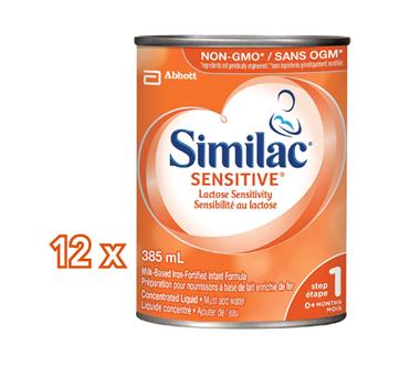 Image 2 du produit Similac - Similac Sensitive, en liquide concentré, 12 x 385 ml