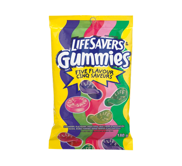 Gummies, 180 g, cinq saveurs