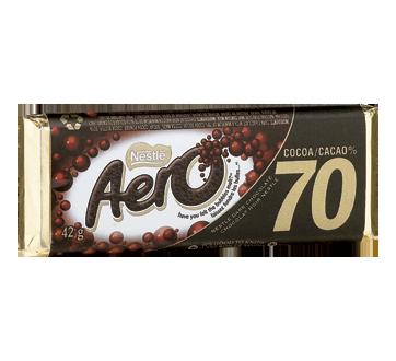 Aero chocolat noir, 42 g, 70 % cacao