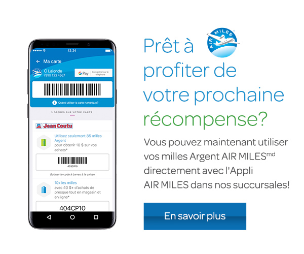 Application mobile Air Miles